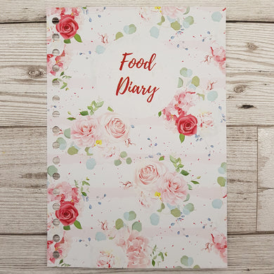 Pink Floral 8 and 12 Week Food Diary