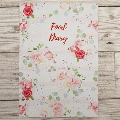 Pink Floral 6 Months Maintenance Diary Inserts
