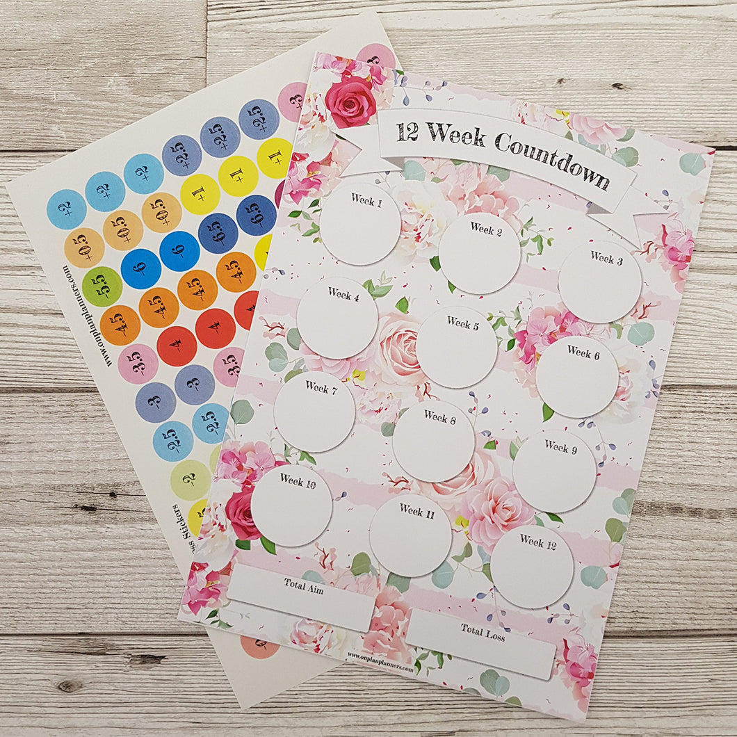 Pink Floral Countdowns
