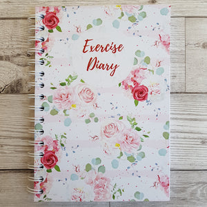 Pink Floral 12 Week Exercise Diary