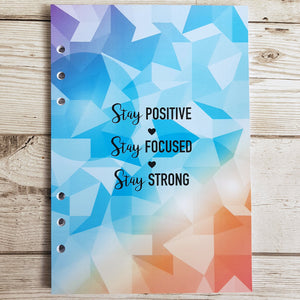 Stay Positive 6 Months Maintenance Diary Inserts