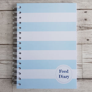 Blue Solid Stripes 12 Week Food Diary