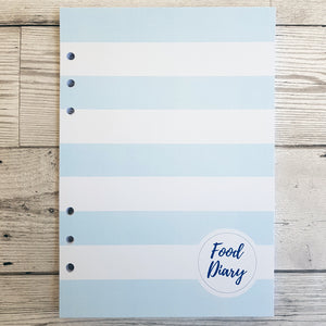 Blue Solid Stripes 6 Months Maintenance Diary Inserts