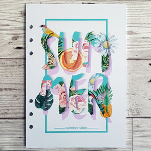 Summer Vibes 8 and 12 Week Organiser Refill