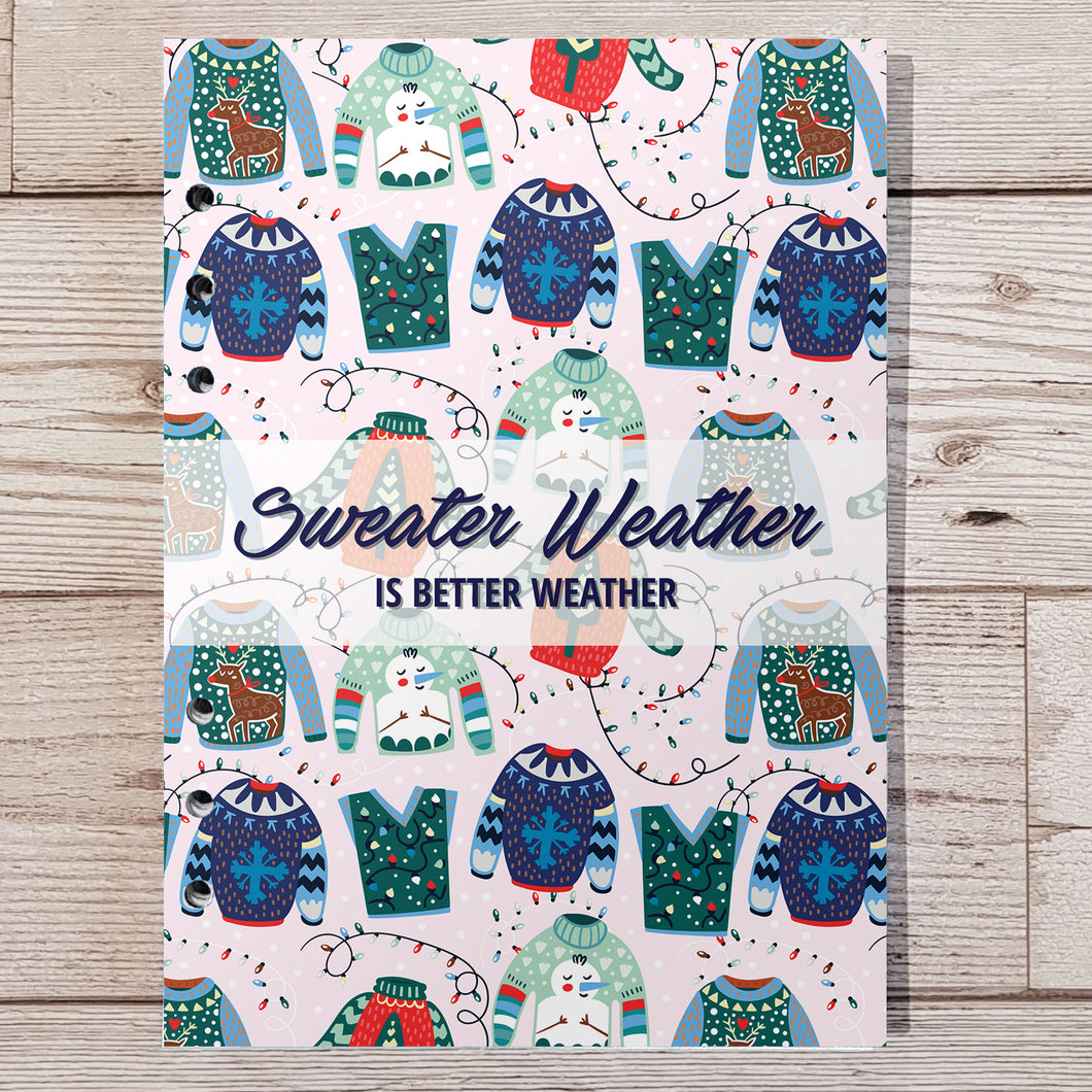 Sweater Weather 8 and 12 Week Organiser Refill