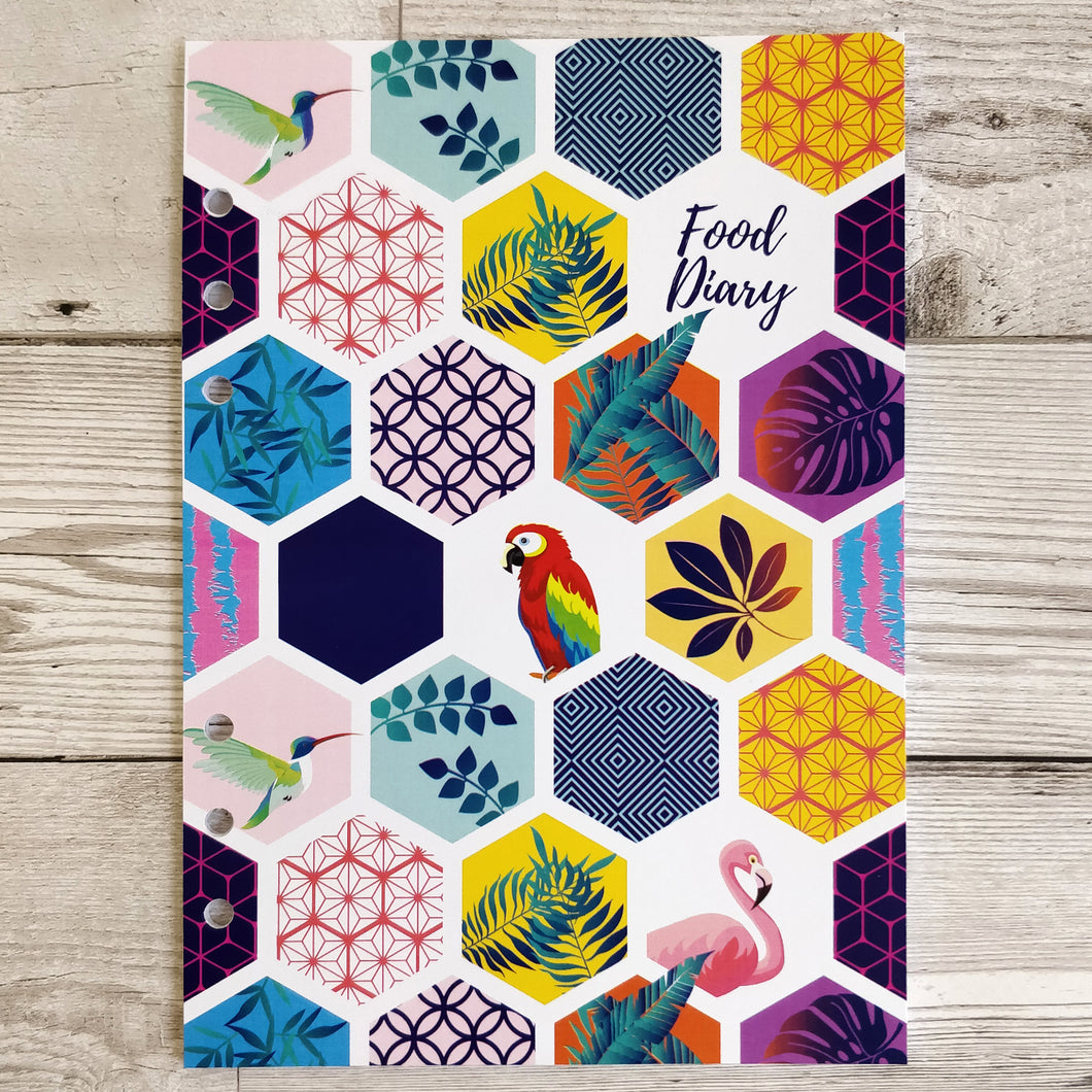 Tropical Tile 12 Week Food and Daily Life Diary Refills
