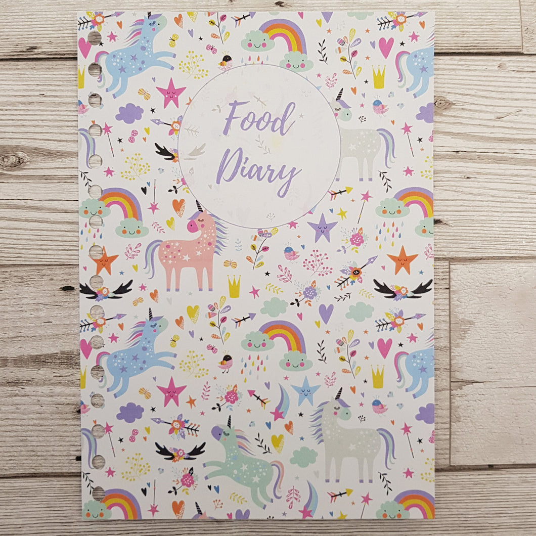 Unicorn 12 Week Food and Daily Life Diary