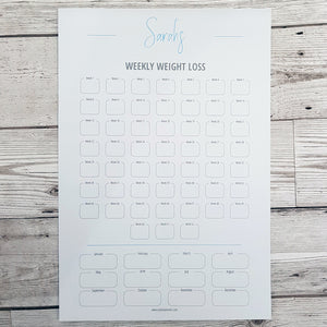 Personalised Weekly Weight Loss Charts