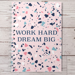 Work hard dream big 6 Month Maintenance Diary