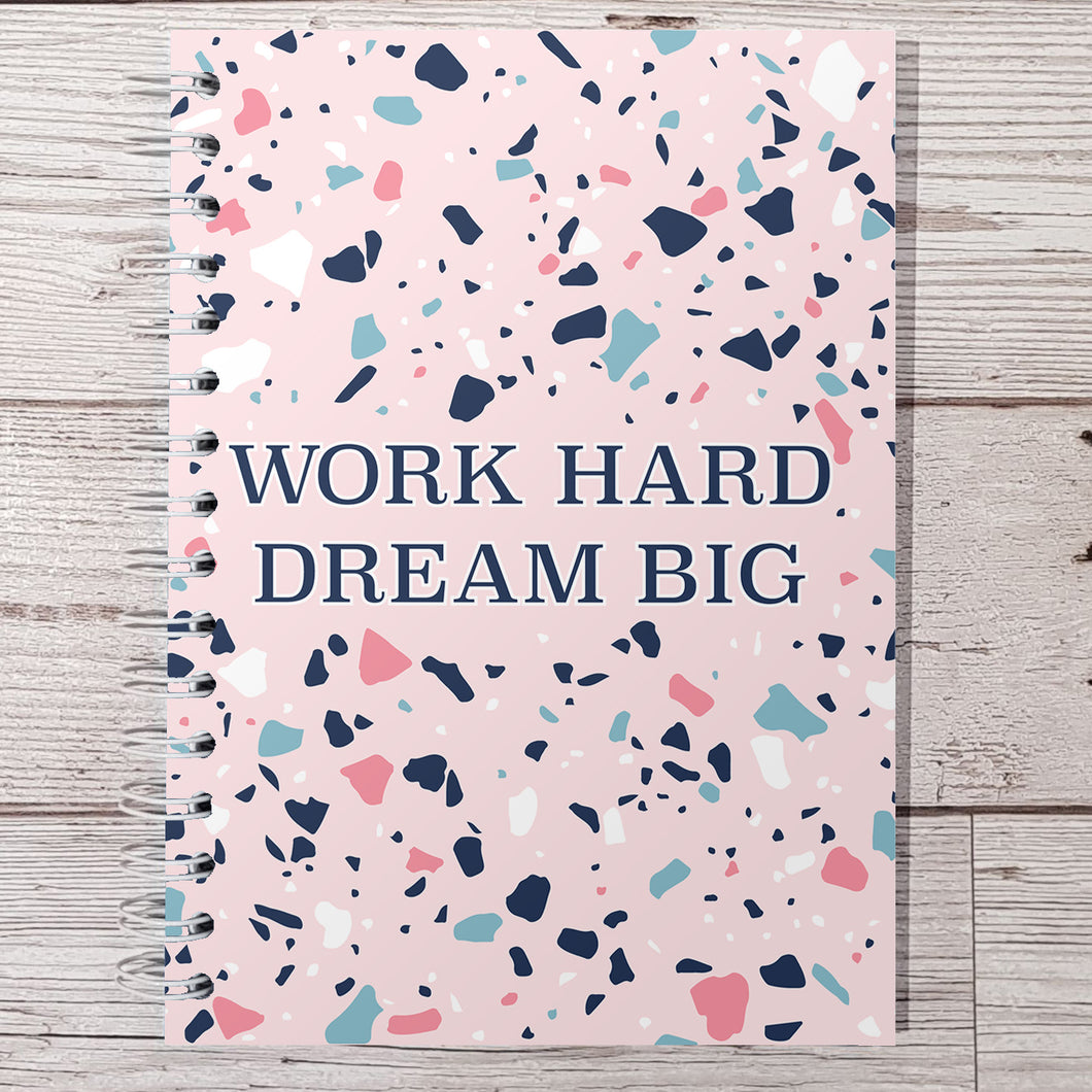Work hard dream big 12 Week Food and Daily Life Diary
