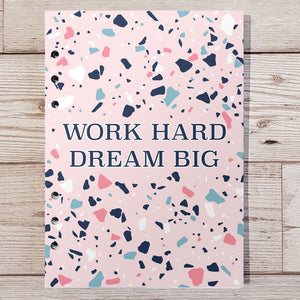 Work hard dream big 12 Week Food and Daily Life Diary Refills