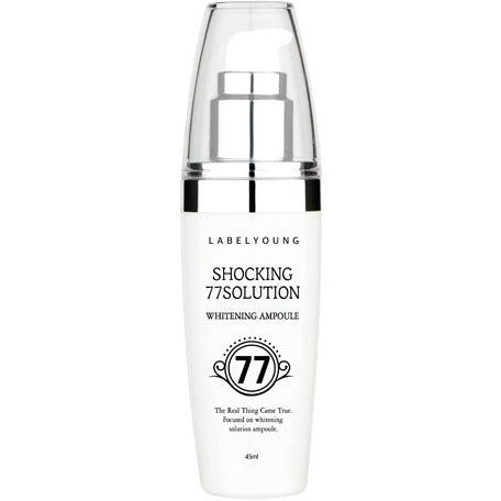 Label Young Shocking 77 Solution Whitening ampoule - hada kin