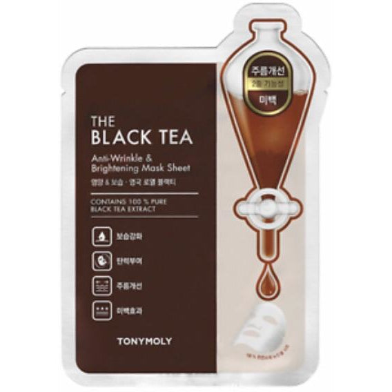 TONY MOLY The Black Tea Anti-Wrinkle & Brightening Mask