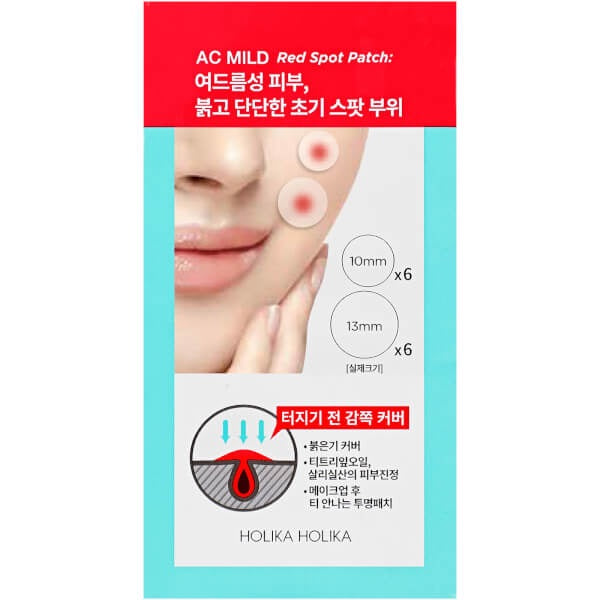 HOLIKA HOLIKA AC MILD Red Spot Patch x 12
