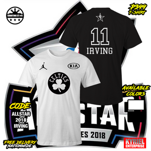 sports shoes af96e bde24 NBA 2018 Kia All Star Kyrie Irving 11 T-Shirt