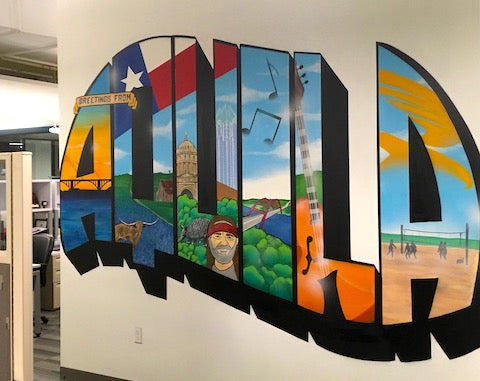 image of aquila austin mural office interior