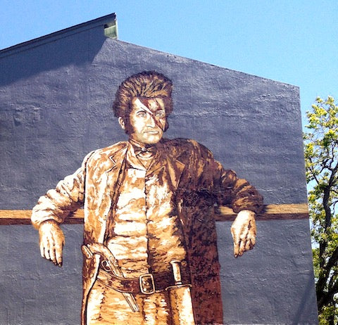 image of jim bowie austin mural