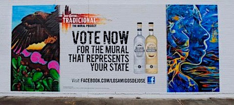 image of jose cuervo outdoor mural