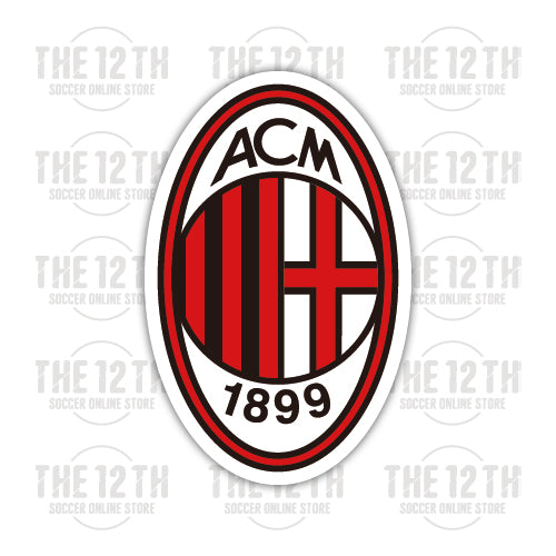 AC Milan Removable Vinyl Sticker Decal - 12 Soccer Tee
