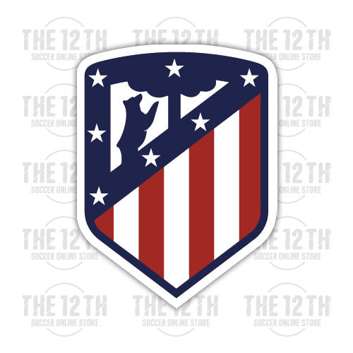 Atletico Madrid Removable Vinyl Sticker Decal - 12 Soccer Tee
