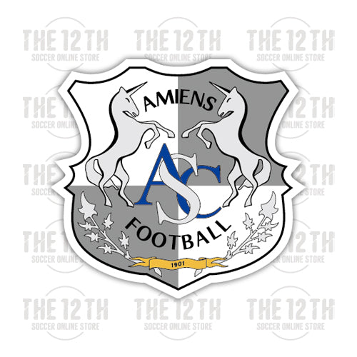 Amiens SC Removable Vinyl Sticker Decal - 12 Soccer Tee