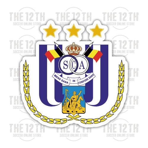 R.S.C. Anderlecht Removable Vinyl Sticker Decal - 12 Soccer Tee