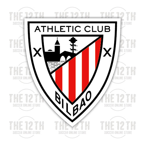 Athletic Bilbao Removable Vinyl Sticker Decal - 12 Soccer Tee