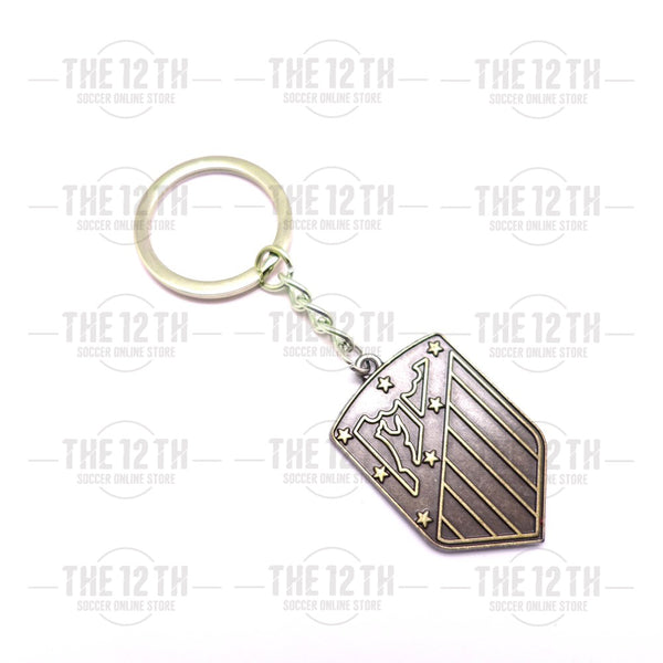 Atletico Madrid Metallic Crest Keyring