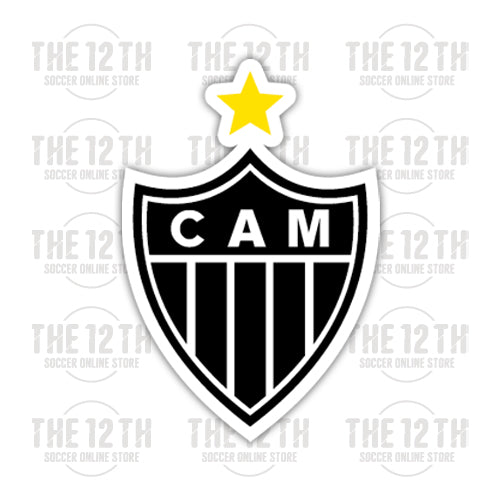 Clube Atletico Mineiro Removable Vinyl Sticker Decal - 12 Soccer Tee