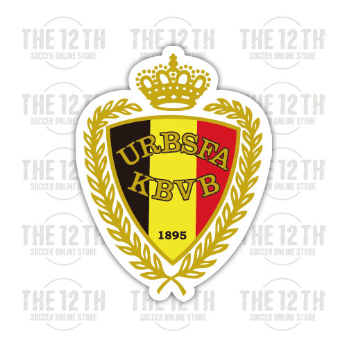 Belgium Removable Vinyl Sticker Decal - 12 Soccer Tee