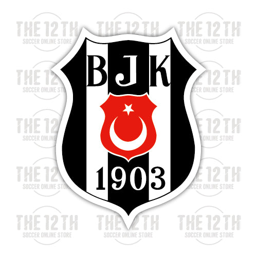 Besiktas J.K. Removable Vinyl Sticker Decal - 12 Soccer Tee