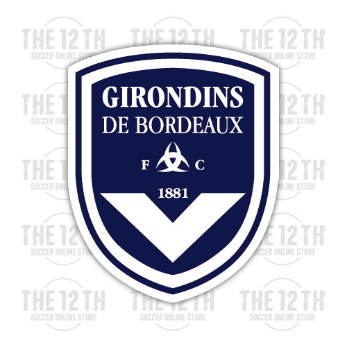 FC Girondins de Bordeaux Removable Vinyl Sticker Decal - 12 Soccer Tee