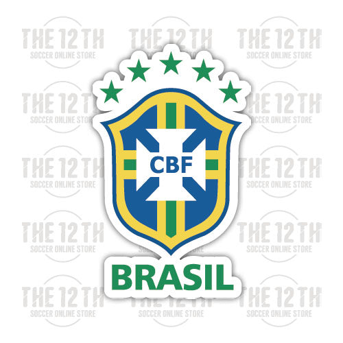Brazil Removable Vinyl Sticker Decal - 12 Soccer Tee