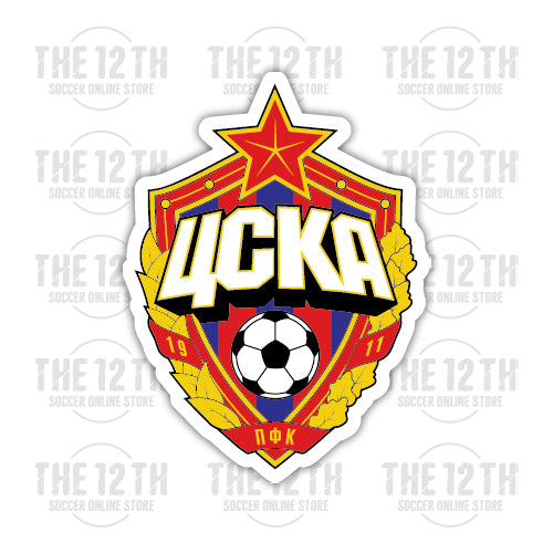 PFC CSKA Moscow Removable Vinyl Sticker Decal - 12 Soccer Tee
