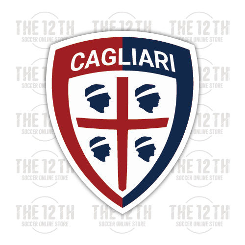 Cagliari Calcio Removable Vinyl Sticker Decal - 12 Soccer Tee
