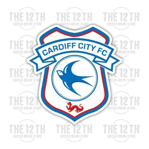 Cardiff City Removable Vinyl Sticker Decal - 12 Soccer Tee