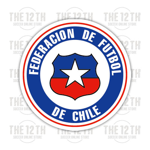 Chile Removable Vinyl Sticker Decal - 12 Soccer Tee