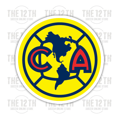 Club America Removable Vinyl Sticker Decal - 12 Soccer Tee