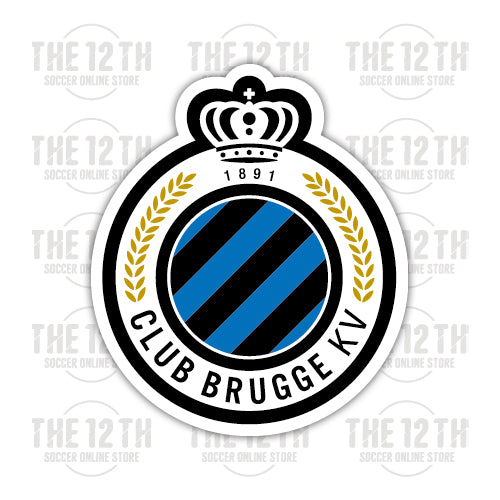 Club Brugge KV Removable Vinyl Sticker Decal - 12 Soccer Tee