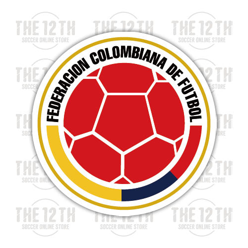 Colombia Removable Vinyl Sticker Decal - 12 Soccer Tee