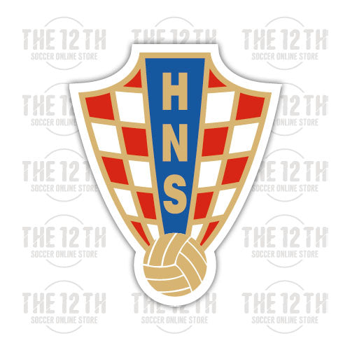 Croatia Removable Vinyl Sticker Decal - 12 Soccer Tee