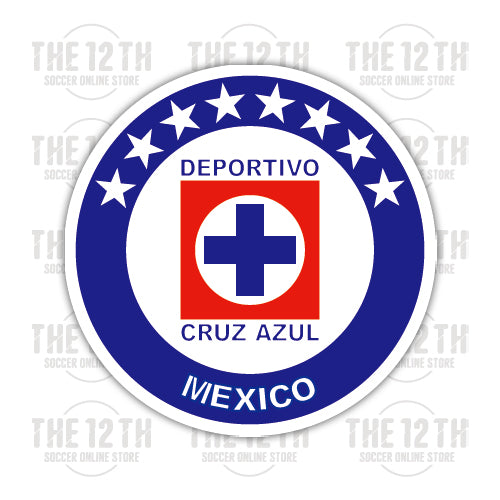 Cruz Azul Removable Vinyl Sticker Decal - 12 Soccer Tee