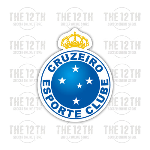 Cruzeiro Esporte Clube Removable Vinyl Sticker Decal - 12 Soccer Tee