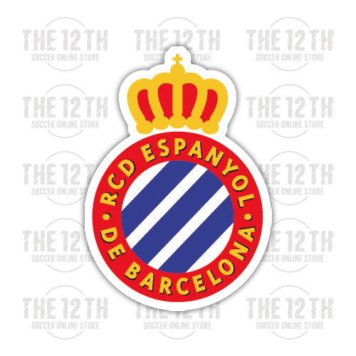 RCD Espanyol Removable Vinyl Sticker Decal - 12 Soccer Tee