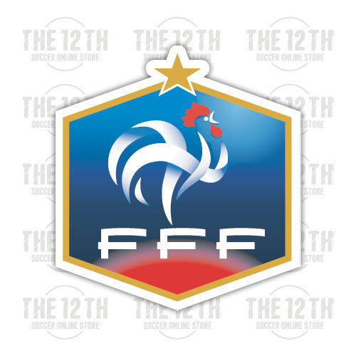France Removable Vinyl Sticker Decal - 12 Soccer Tee