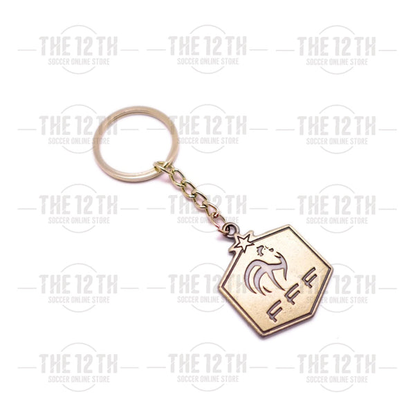 France Metallic Crest Keyring