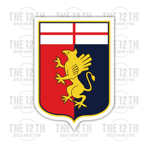 Genoa C.F.C. Removable Vinyl Sticker Decal - 12 Soccer Tee