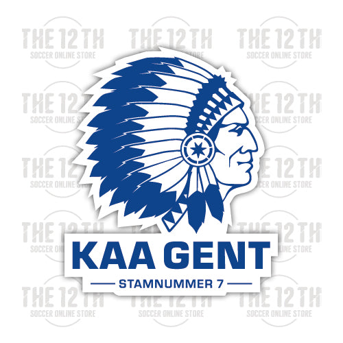K.A.A. Gent Removable Vinyl Sticker Decal - 12 Soccer Tee