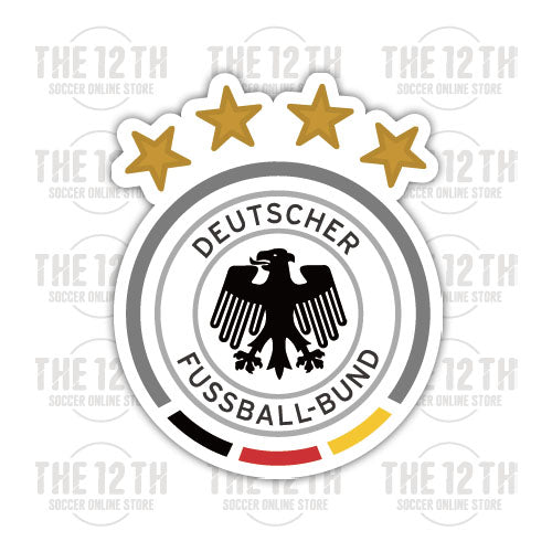Germany Removable Vinyl Sticker Decal - 12 Soccer Tee