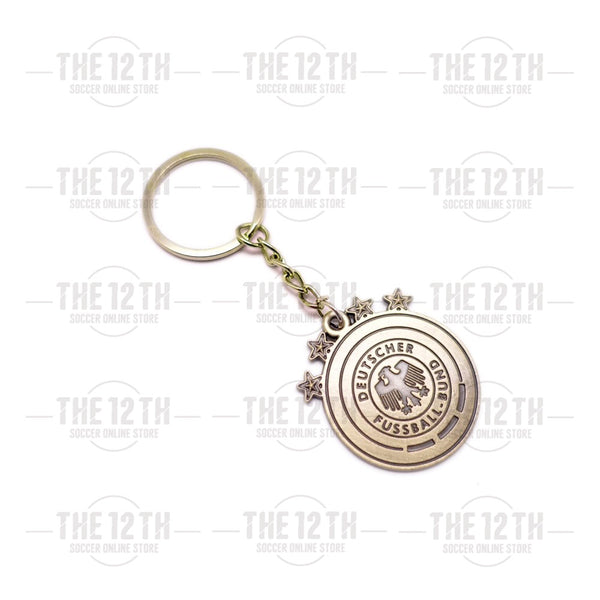 Germany Metallic Crest Keyring - 12 Soccer Tee